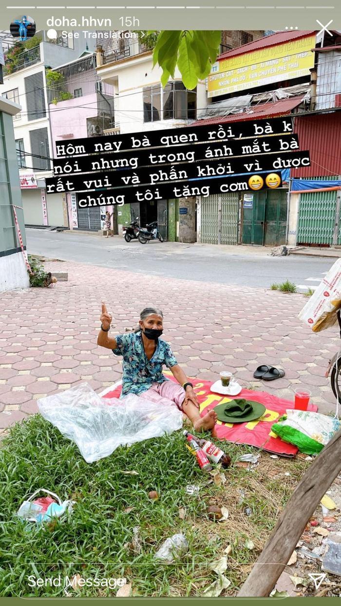 Hoa hậu Đỗ Thị Hà mặc đồ bảo hộ đi phát cơm cho người nghèo Ảnh 8