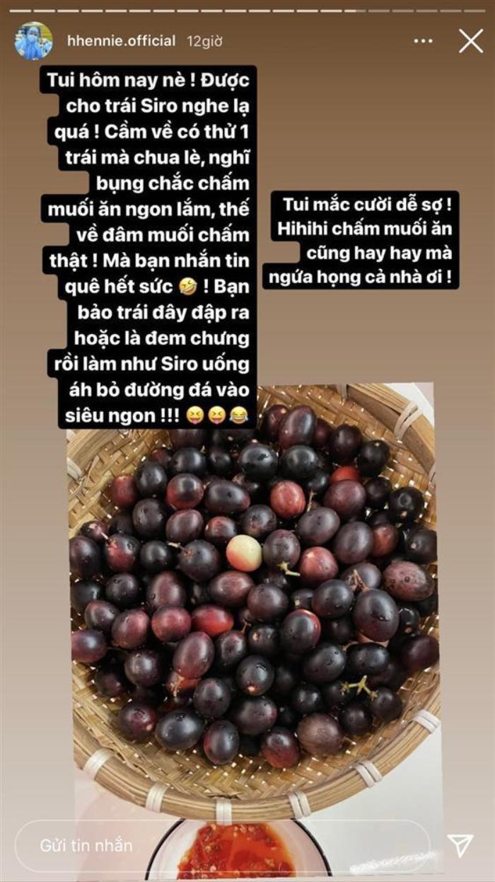 Rảnh rỗi ngày dịch, H'Hen Niê trổ tài make up bằng trái cây và cái kết không thể hài hơn Ảnh 1