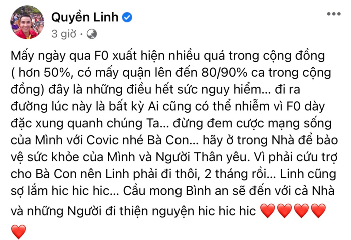 Xúc động hình ảnh MC Quyền Linh vác gạo tiếp tế, NSND Hồng Vân phải thốt lên câu này