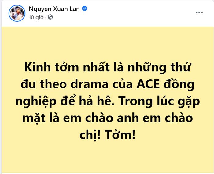 Xuân Lan, Lệ Quyên mỉa mai 'ai đó' giữa 'bão drama' ngập tràn Vbiz Ảnh 1