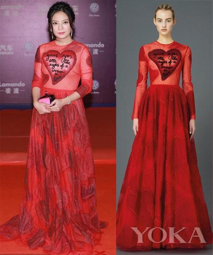 Trước khi bị 'phong sát', Triệu Vy từng bị tẩy chay vì mặc váy in quốc kỳ khiếm nhã Ảnh 5