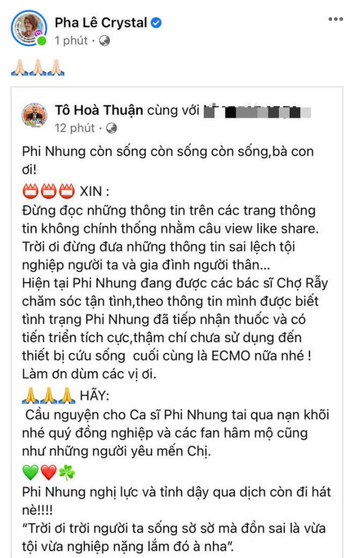 Diễn viên Quốc Thuận bác bỏ thông tin Phi Nhung từ trần Ảnh 1