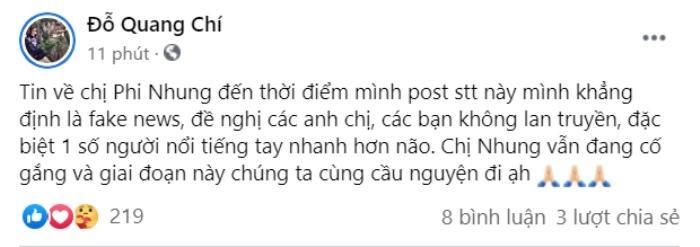 Quản lý Phi Nhung bức xúc vì nữ ca sĩ bị đồn đã mất, 'dằn mặt' một vài nghệ sĩ 'tay nhanh hơn não' Ảnh 2