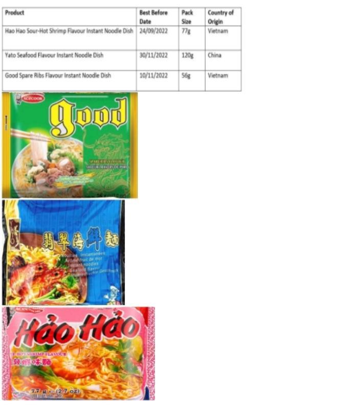 Ireland thu hồi lô mì Hảo Hảo vì chứa chất độc hại Ảnh 1