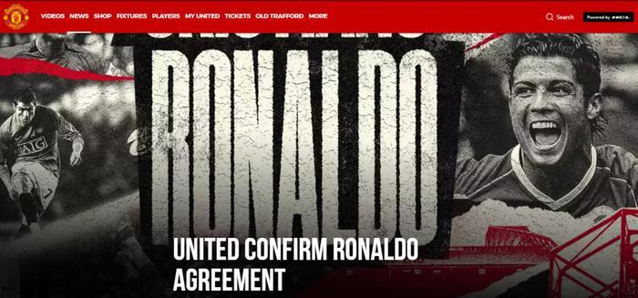 CHÍNH THỨC: MU chiêu mộ thành công Ronaldo Ảnh 1