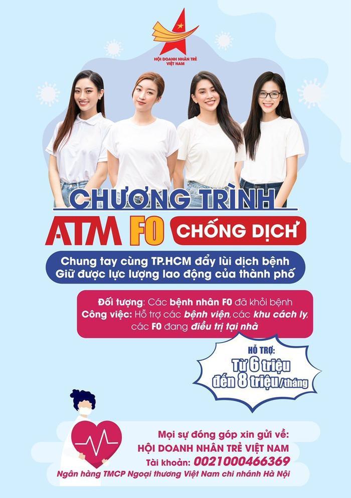 Hoa hậu Tiểu Vy, Mỹ Linh, Lương Thùy Linh, Đỗ Hà hỗ trợ việc làm cho F0 khỏi bệnh Ảnh 4