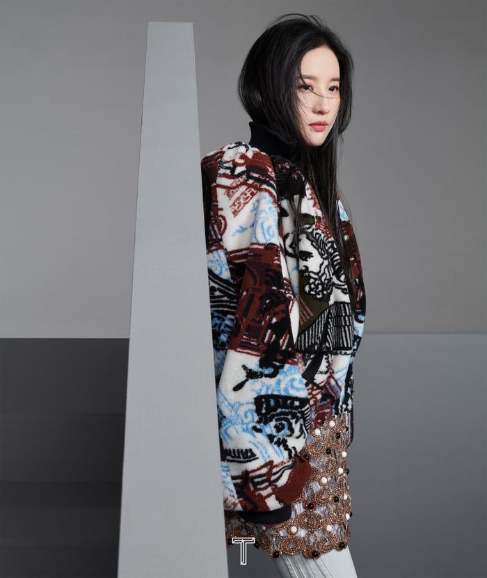 Lưu Diệc Phi mang high fashion xuất hiện trên tạp chí T số Kim Cửu Ảnh 8
