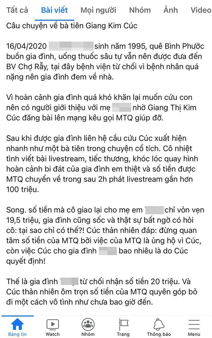 Bất ngờ bị tố ăn chặn tiền từ thiện, Giang Kim Cúc - người sáng lập nhóm Mai táng 0 đồng lên tiếng Ảnh 4
