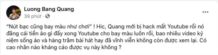 Lương Bằng Quang bất ngờ báo mất 'tài sản khủng', tìm 'cao nhân' giúp kháng cáo Ảnh 1