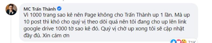 Netizen soi chi tiết Trấn Thành dùng 'tiểu xảo' trong bản sao kê 1.000 trang, thực hư ra sao? Ảnh 3