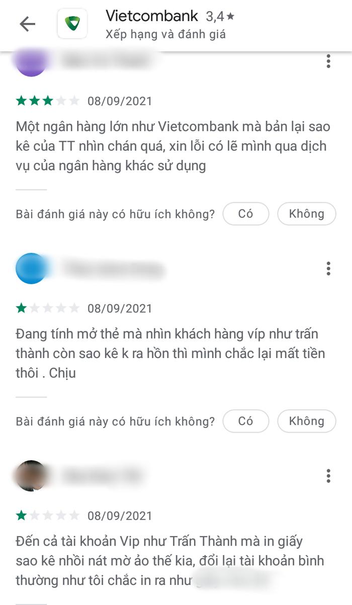 Trấn Thành tung 1000 tờ sao kê, Fanpage Vietcombank bị 'tấn công' phải khoá bình luận, nhận 'bão' 1 sao Ảnh 7