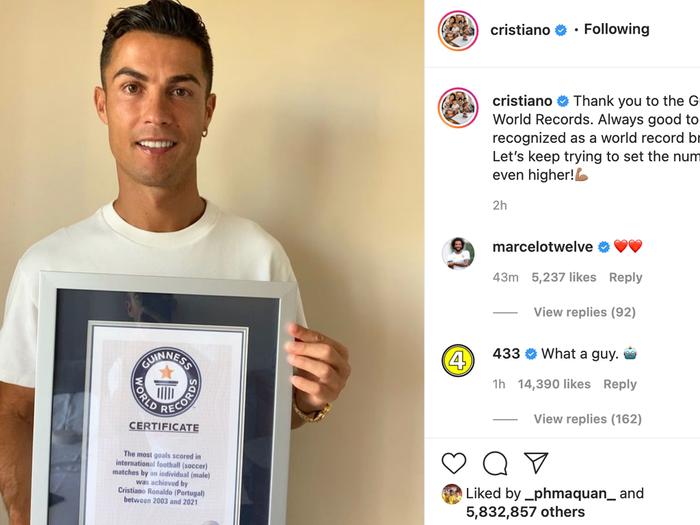 Công Vinh có hiệu suất ghi bàn cho ĐTQG bằng kỷ lục Guinness của Ronaldo Ảnh 1