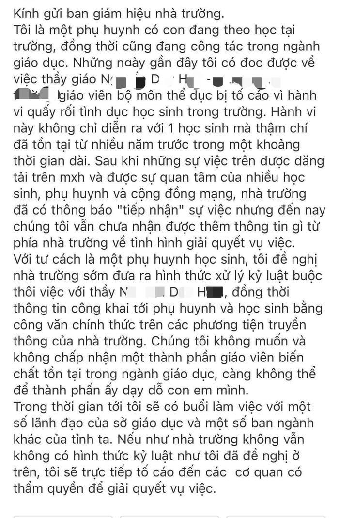Thầy giáo đã có vợ con bị tố quấy rối nữ sinh, nhắn tin 'gạ' đi chơi riêng rồi liên tục nhắc xóa tin nhắn Ảnh 4