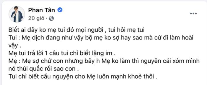 Diễn viên Tân Trề gây xúc động khi đăng bức ảnh mẹ ruột làm lao công thu gom rác Ảnh 2