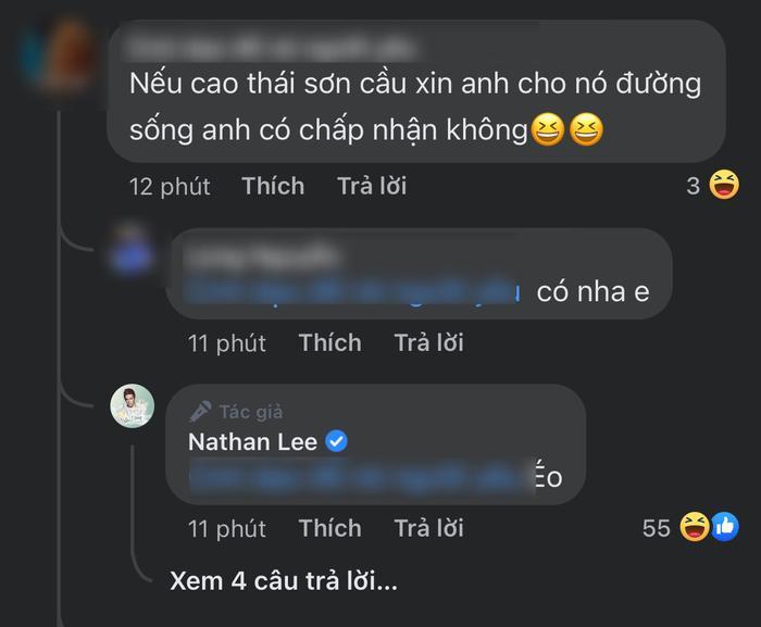 Được hỏi có muốn cho Cao Thái Sơn 'con đường sống' không, Nathan Lee đáp trả khiến ai cũng bật ngửa