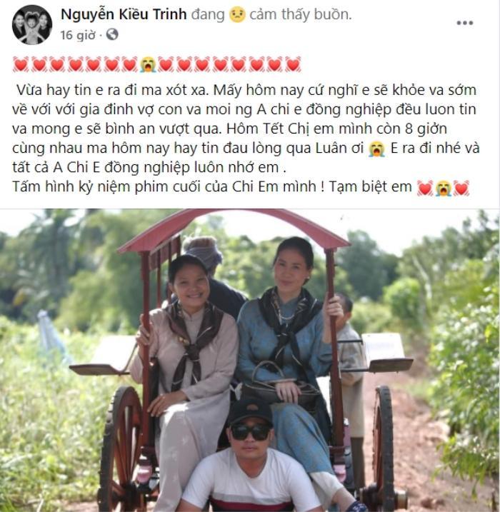 Mai Thu Huyền, Hải Băng và nhiều sao Việt khóc thương trước sự ra đi của nam diễn viên mất vì Covid-19 Ảnh 3