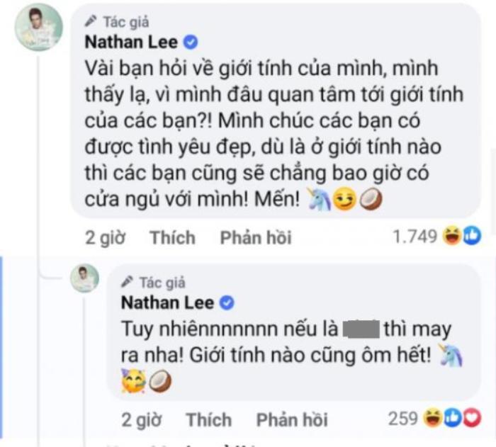 Liên tục bị hỏi về giới tính, Nathan Lee trả lời một câu khiến khán giả 'tái mặt' Ảnh 3