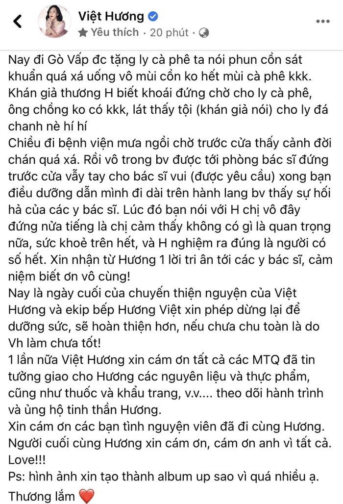 Việt Hương có những chia sẻ 'cuối cùng' trước khi chính thức ngừng từ thiện sau 2 tháng Ảnh 4