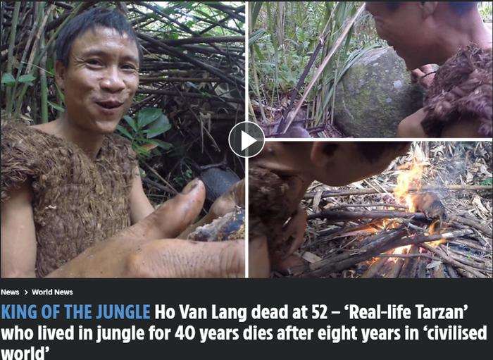 Cuộc sống của 'người rừng' Hồ Văn Lang trước khi qua đời vì ung thư trên báo quốc tế Ảnh 1