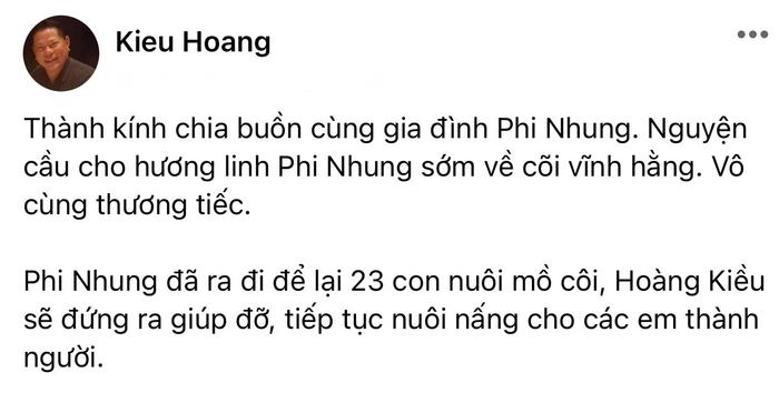 Tỷ phú Hoàng Kiều thông báo sẽ nuôi nấng 23 người con nuôi của Phi Nhung đến lúc thành người Ảnh 2