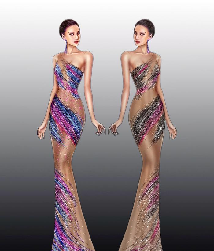 Hé lộ váy dạ hội của Kim Duyên: Fan rần rần ủng hộ đầm xuyên thấu chuẩn beauty queen Ảnh 4