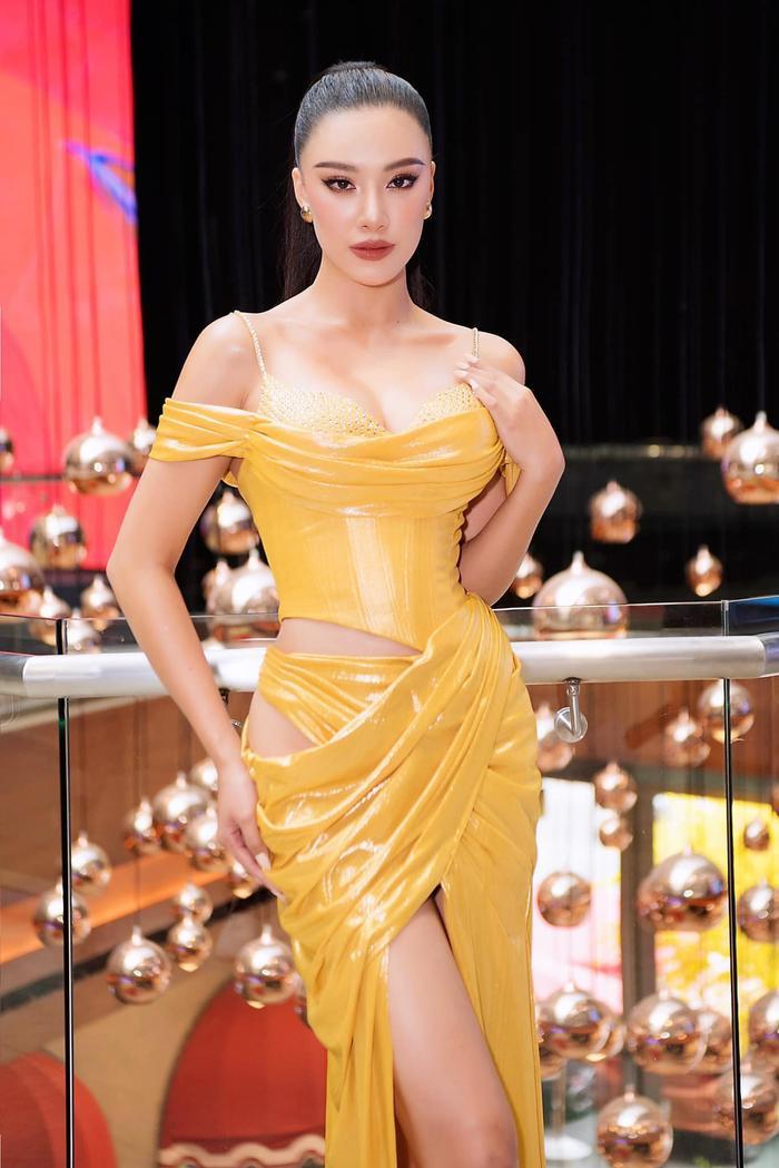 Hé lộ váy dạ hội của Kim Duyên: Fan rần rần ủng hộ đầm xuyên thấu chuẩn beauty queen Ảnh 2