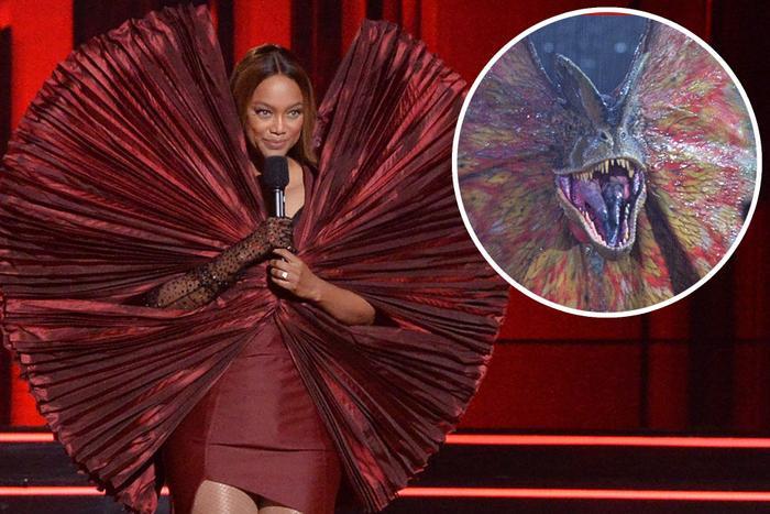 Làm siêu mẫu không quên tấu hài, Tyra Banks tự tin mặc váy như khủng long bay Ảnh 4