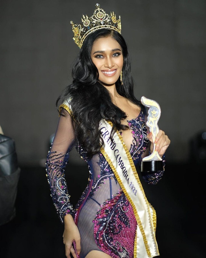 Miss Grand Campuchia 2021: Đối thủ nặng ký nước hàng xóm khiến Thùy Tiên phải dè chừng Ảnh 1