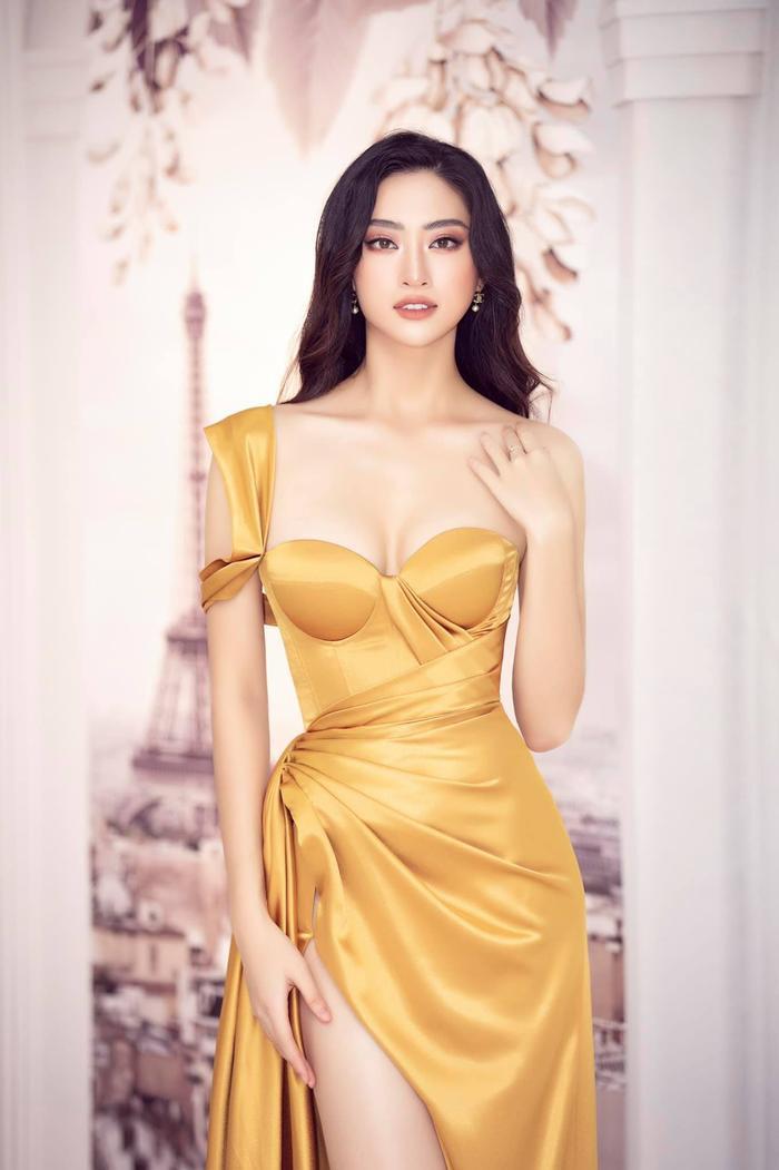 Ái Nhi đụng váy siêu phẩm với Tiểu Vy, Lương Thùy Linh: Ai xứng danh nữ thần? Ảnh 9