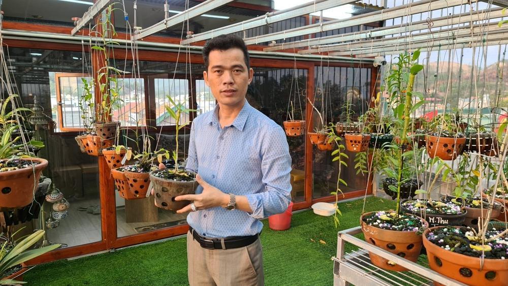 Ông chủ vườn lan Nguyễn Văn Hùng chia sẻ về thú chơi lan Ảnh 2
