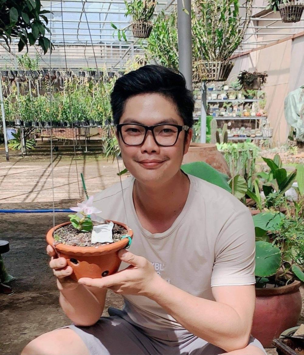 Nguyễn Duy Tân chia sẻ cách làm giàu từ cây hoa lan đột biến Ảnh 1