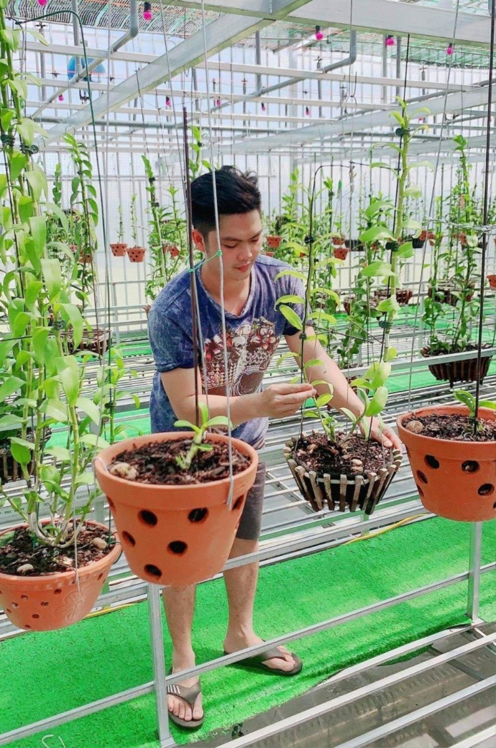 Nguyễn Duy Tân chia sẻ cách làm giàu từ cây hoa lan đột biến Ảnh 5