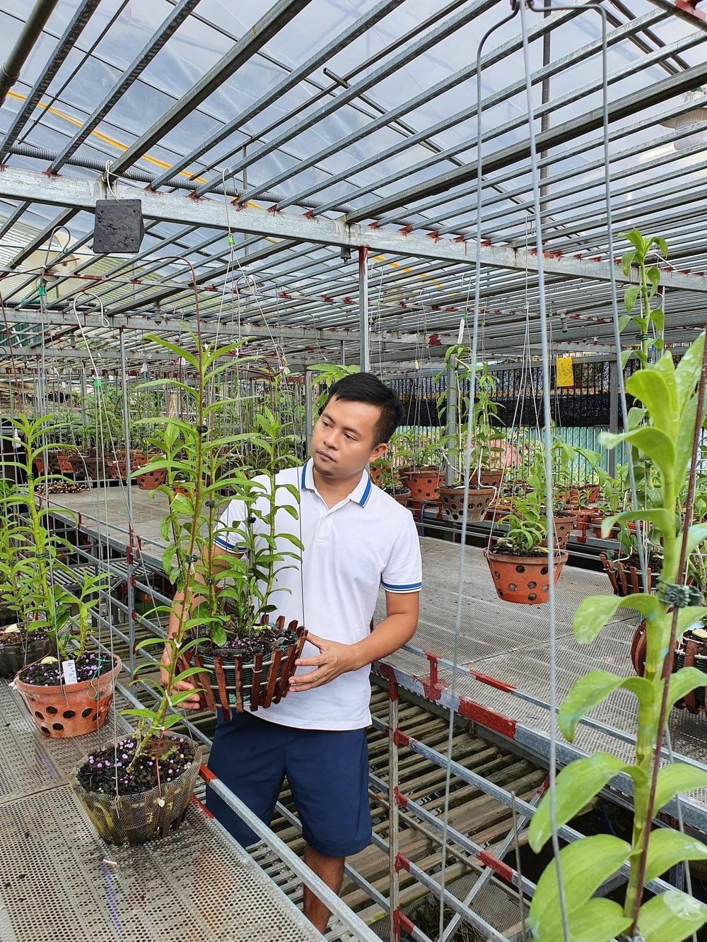 Ông chủ vườn lan Dương Xuân Tú thành công nhờ đam mê từ nhỏ Ảnh 1