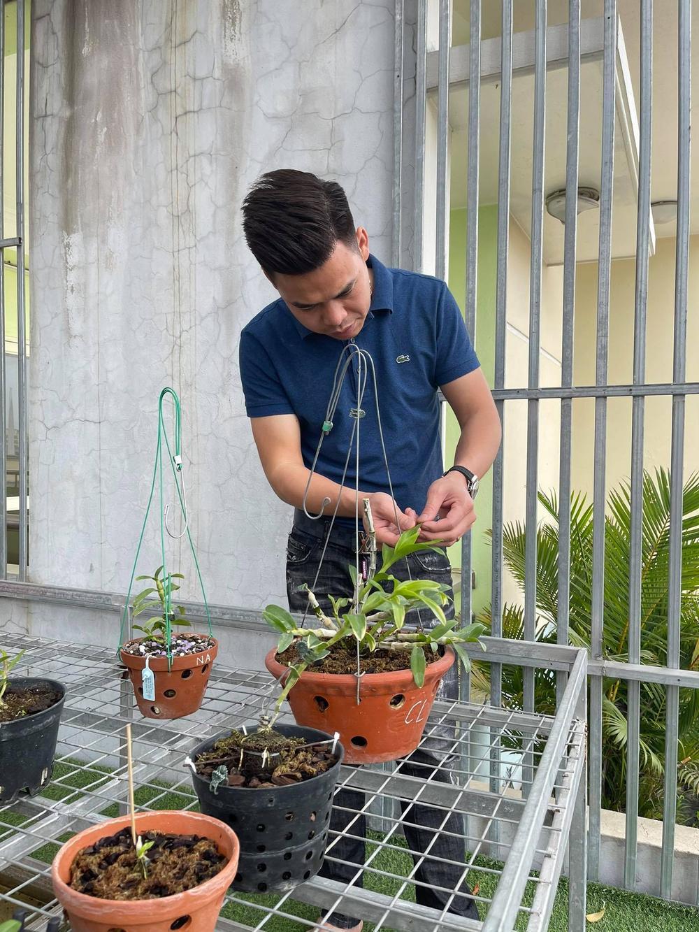 Ông chủ vườn lan 8X Trung Dũng: Chàng trai trồng lan đột biến khó chăm hiếm tìm ở Hà Nam Ảnh 4