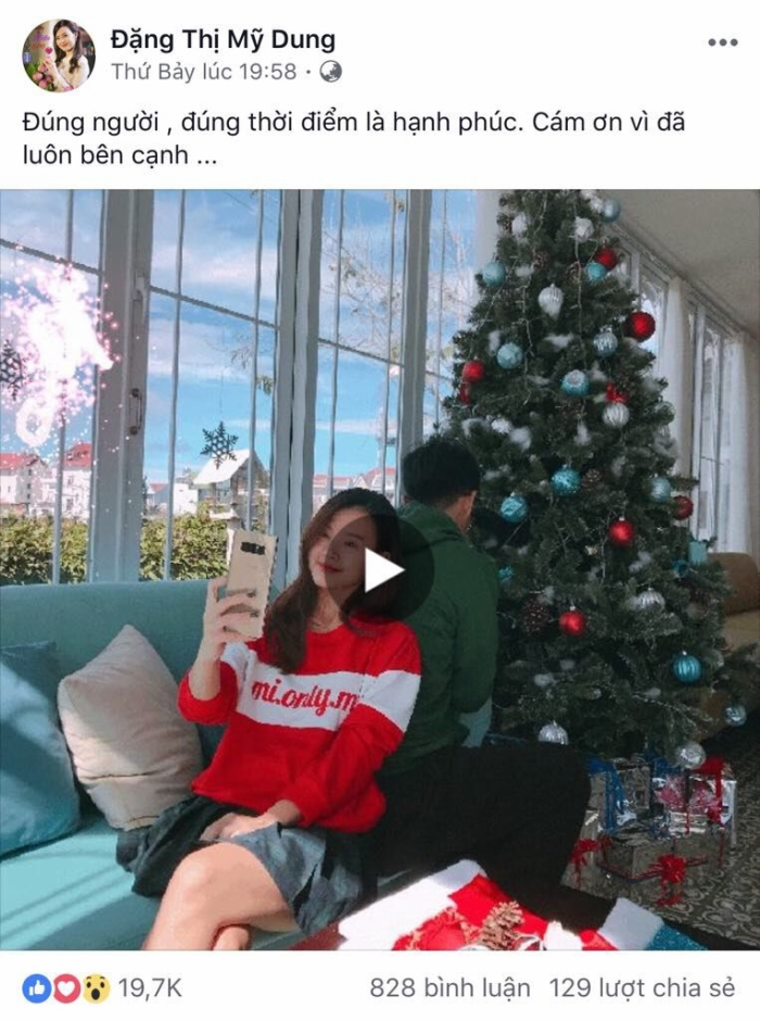 Midu kiêu hãnh khoe hạnh phúc với Galaxy Note 8 dịp Giáng sinh