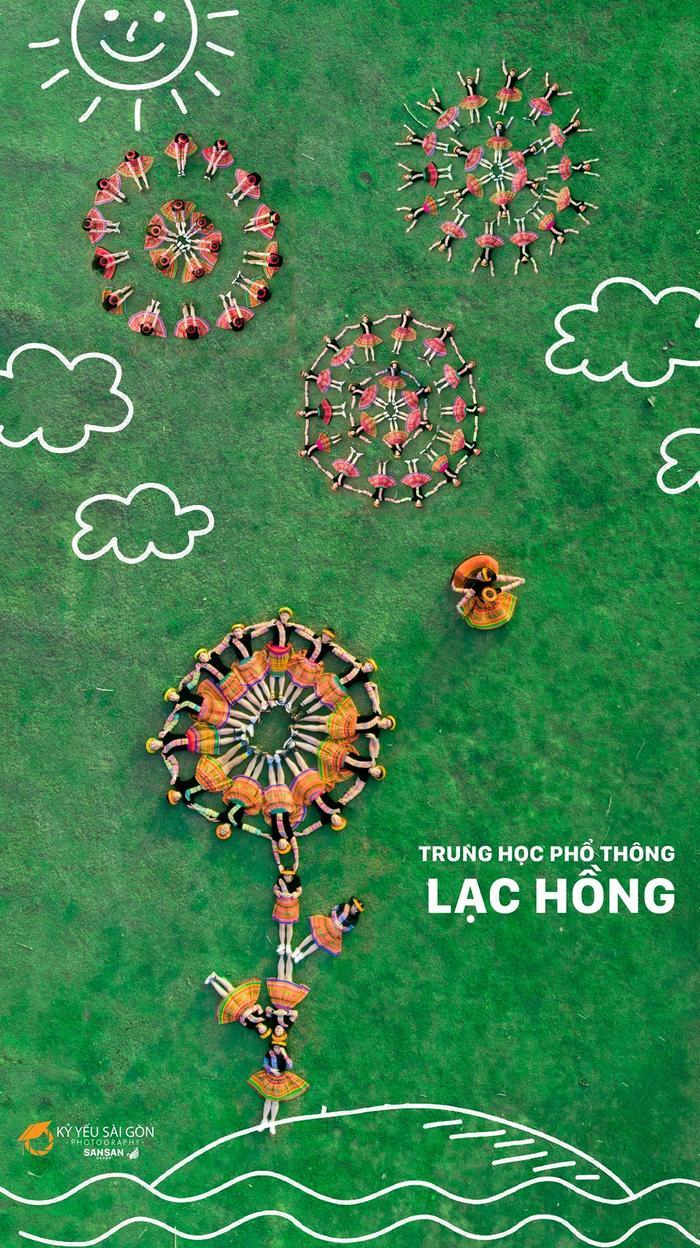 Tạo hình ấn tượng qua góc flycam cùng Kỷ yếu Sài Gòn Ảnh 7