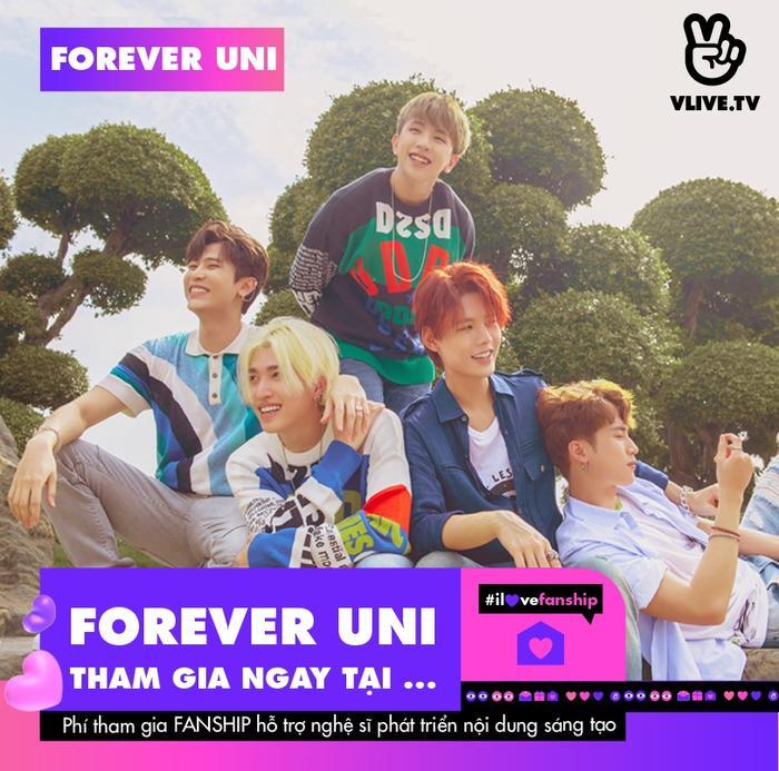 """Uni5 mở """"ngôi nhà chung"""" đón fan cứng, với loạt quyền lợi hoành tráng không thua fanclub của sao Hàn Ảnh 5"""