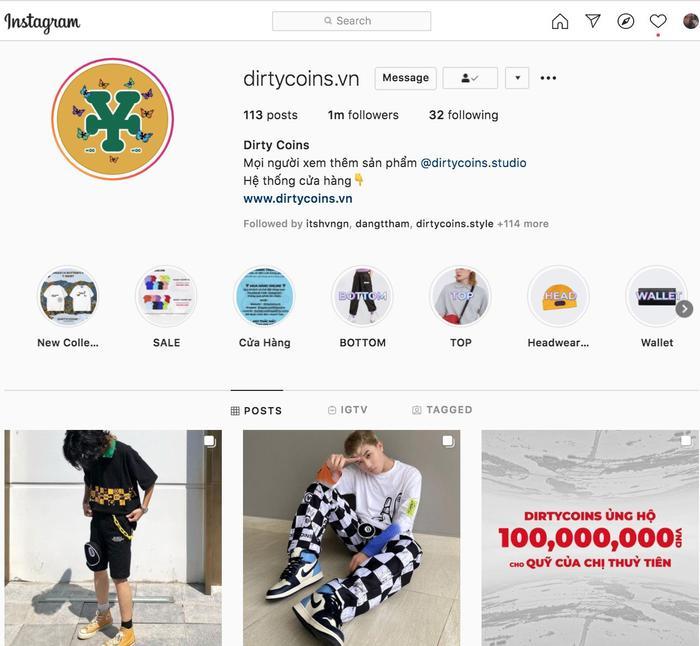 """Giải mã độ """"hot"""" của Dirty Coins – thương hiệu Việt đầu tiên chạm mốc 1 triệu lượt theo dõi trên Instagram Ảnh 1"""