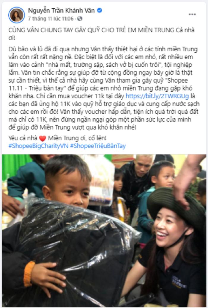 Chung tay cùng nghệ sĩ Quyền Linh, Hoa Hậu Khánh Vân kêu gọi cộng đồng tham gia gây quỹ hỗ trợ trẻ em miền Trung Ảnh 2