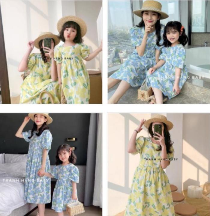 Thanh Hằng Baby: thế giới của những sắc màu đầm cotton hoạ tiết cho bé gái Ảnh 1